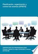 Uf0075   Planificación, Organización Y Control De Eventos