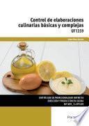 Uf1359   Control De Elaboraciones Culinarias Básicas Y Complejas