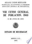 Viii Censo General De Población 1960. 8 De Junio De 1960