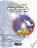Xv Censo Industrial. Censos Económicos 1999. Industrias Manufactureras Subsector 31. Producción De Alimentos Bebidas Y Tabaco. Productos Y Materia Prima