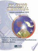 Xv Censo Industrial. Censos Económicos 1999. Industrias Manufactureras Subsector 39. Otras Industrias Manufactureras. Tabulados Básicos