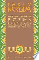 Late And Posthumous Poems, 1968 1974