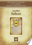 libro Apellido Ballesté