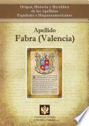 libro Apellido Fabra (valencia)