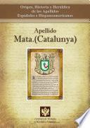 libro Apellido Mata.(catalunya)