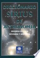 libro Diccionario Sirius De Astronomía