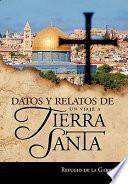 libro Datos Y Relatos De Un Viaje A Tierra Santa