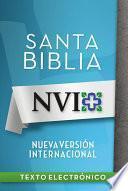libro Nvi Santa Biblia Con Letra Negra