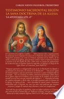 libro Testimonio Sacerdotal Según La Sana Doctrina De La Iglesia.