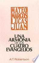 libro Una Armonia De Los Cuatro Evangelios