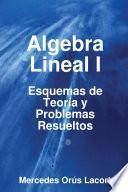 Algebra Lineal I   Esquemas De Teoría Y Problemas Resueltos
