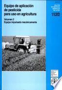 libro Equipo Portàtil De Aplicación De Pesticidas Para Uso En Agricultura