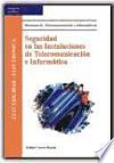 libro Seguridad En Las Instalaciones De Telecomunicación E Informática