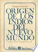 libro Origen De Los Indios Del Nuevo Mundo